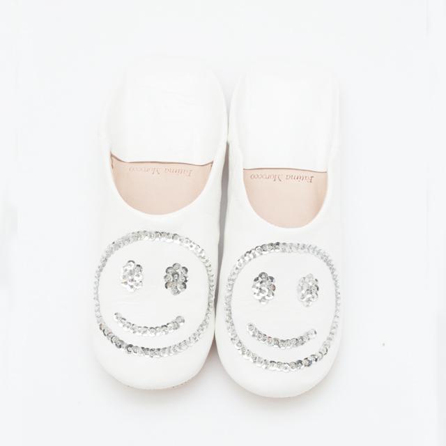 SMILE SPANGLE BABOUCHE ¥4,000+tax / FATIMA MOROCCO