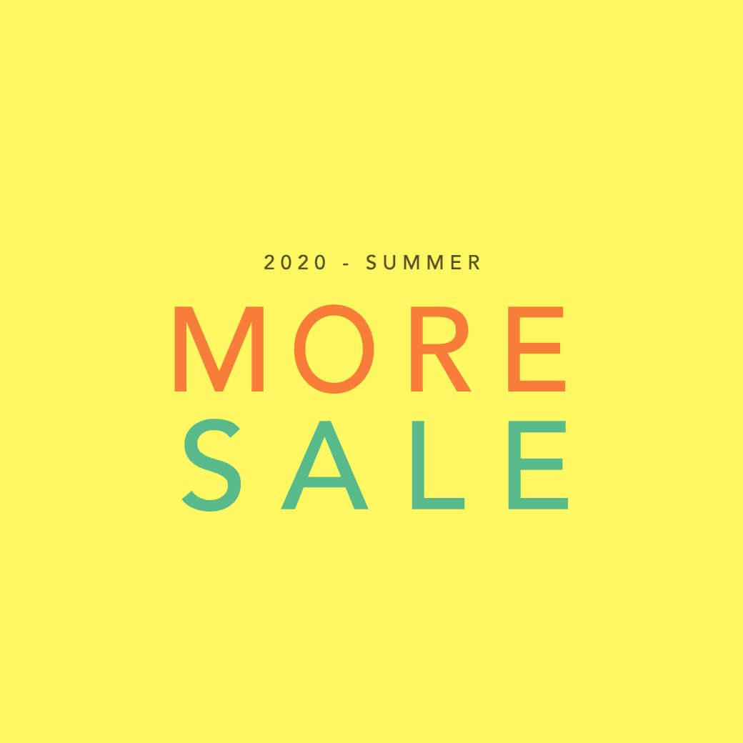 [MORE SALE] セールアイテムがさらにプライスダウン